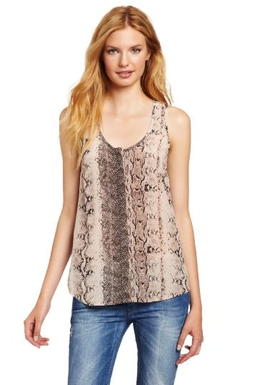 Joie's snake-print tank top ($148) would be a sassy addition to your Spring and Summer style. Imagine it with denim cutoffs and a white blazer — fresh.