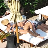 Lauren Conrad laid out in her bikini.