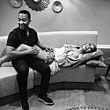 Chrissy Teigen Keeps the Silly, Cute Baby-Bump Pictures Coming
