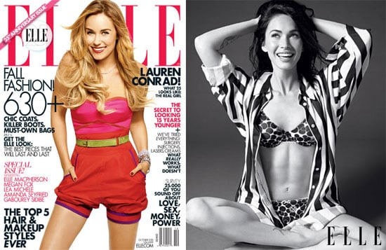 Megan Fox's Abs, Lauren Conrad and Amanda Seyfried on the Cover of October 2010 Elle US Magazine