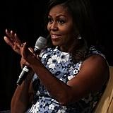 Michelle Obama Blue Floral Dress September 2016