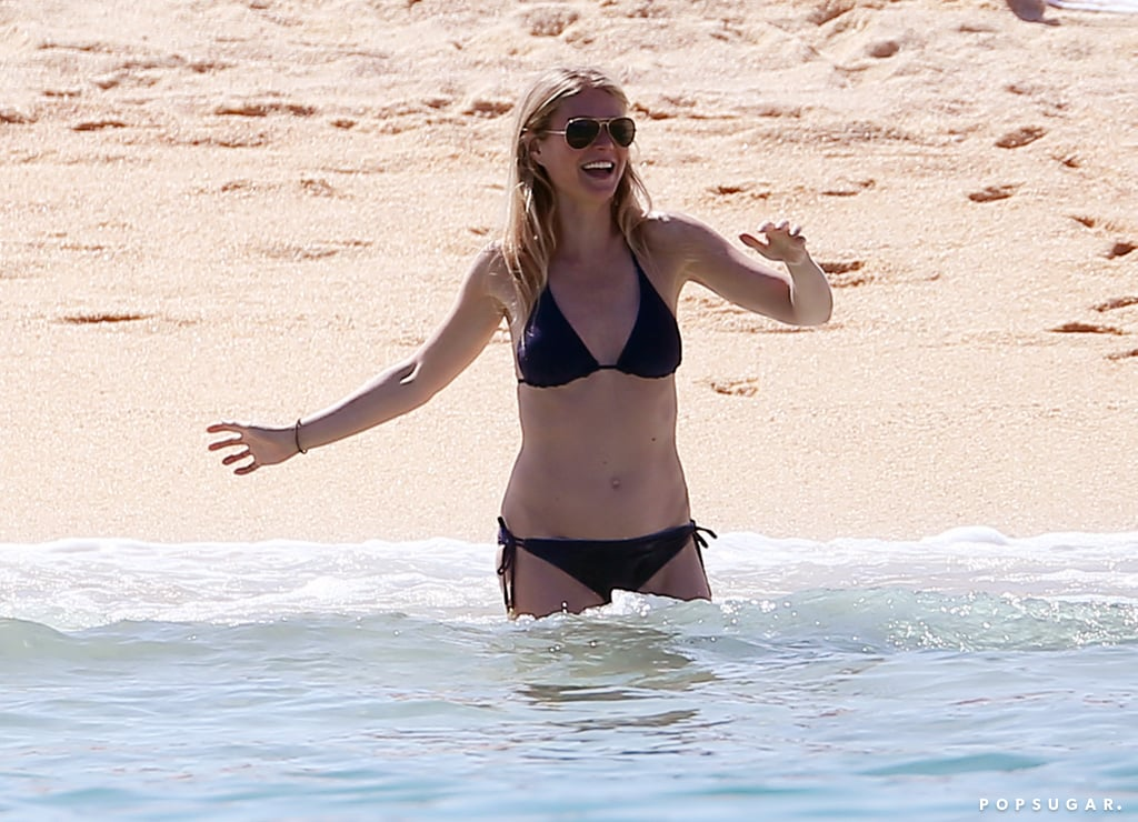 Gwyneth Paltrow went for a dip in the ocean during her Mexican getaway with boyfriend Brad Falchuk in April 2017.