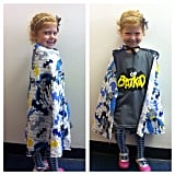 This little fan sported her superhero cape in support of Batkid. Source: Instagram user lisapopsugar