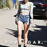 Miley Cyrus donned a pair of cutoffs.