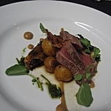 Lamb loin with smoked garlic puree, vegetables, and herbs was too convoluted. It was all over the place in terms of flavor.