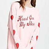 Wildfox Heart On My Sleeve Sweatshirt