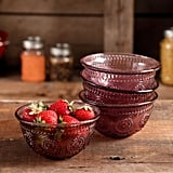 The Pioneer Woman Adeline 13-ounce Emboss Glass Bowl, Set of 4 ($16)
