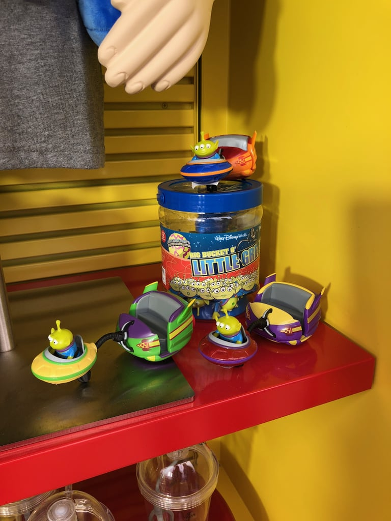 Alien Swirling Saucers replica cart pull-back toys.