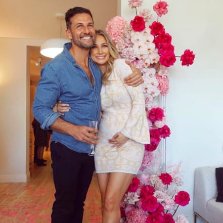 Anna Heinrich's Gender Reveal Dress by Alice McCall