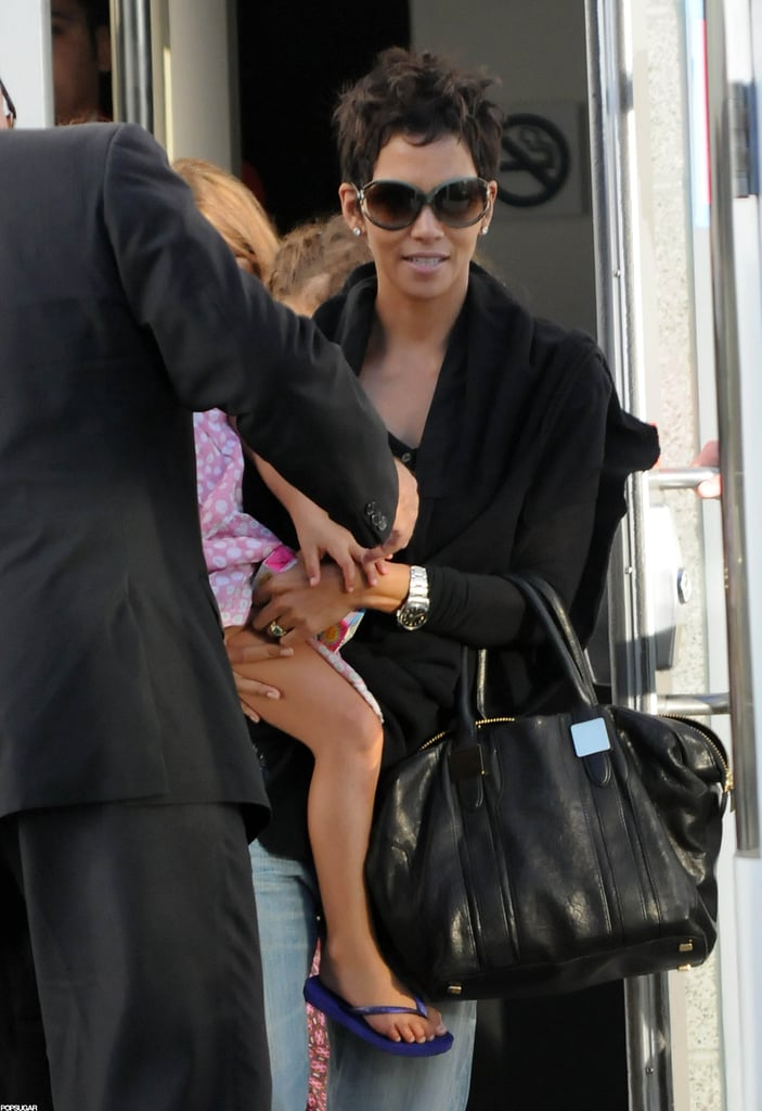 Halle Berry took Nahla Aubry to the Yo Gabba Gabba kids concert in LA.