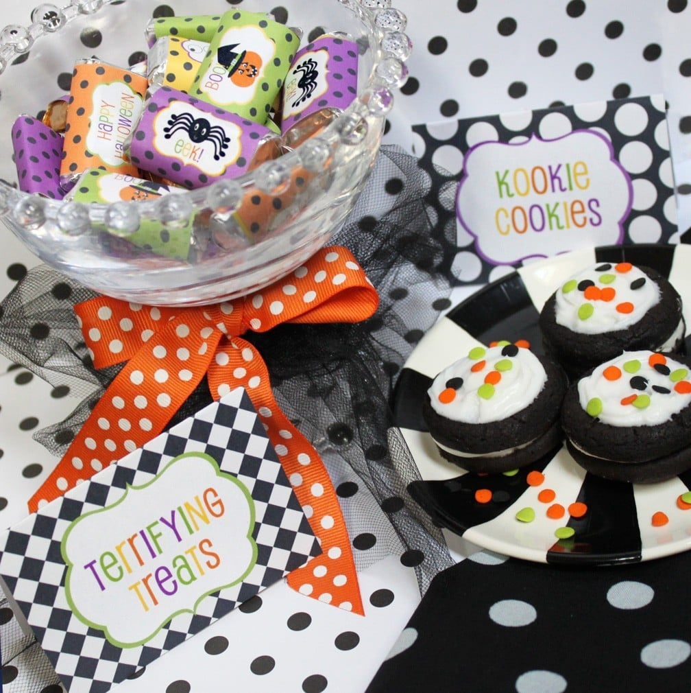 Colorful Halloween Party Decor