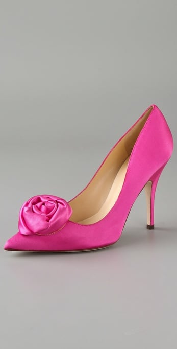 We adore these hot-pink pumps for your bridesmaids.  Kate Spade Leanna Tapered Toe Pumps ($325)