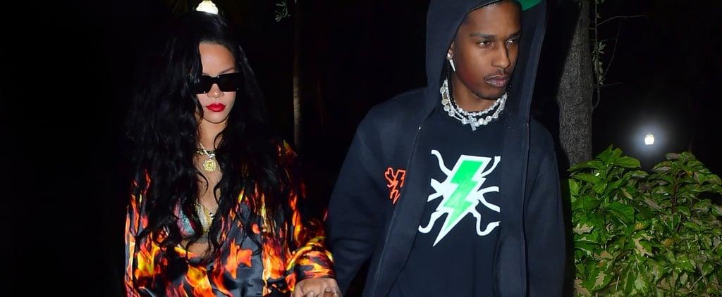Rihanna's Tiny Denim Shorts on a Miami Date With A$AP Rocky