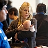 Claire Danes held baby Cyrus Dancy at LAX.