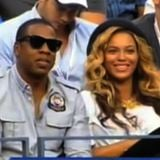 Pregnant Beyonce With Jay-Z at US Open Men's Finals (Video)