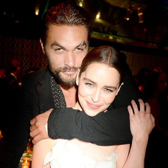 Cute Pictures of Jason Momoa and Emilia Clarke