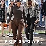 Kim Kardashian and Khloé Kardashian in Malibu, CA