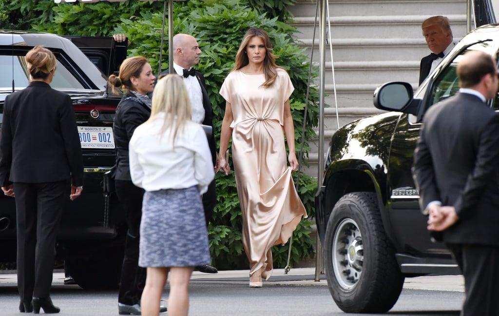 Melania Trump Wearing Monique Lhuillier Gown