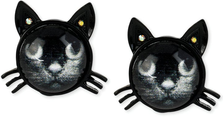 Betsey Johnson Black Cat Stud Earrings ($25)