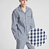 This navy gingham Pattern PJ Set in Poplin ($50) can be worn all year long.