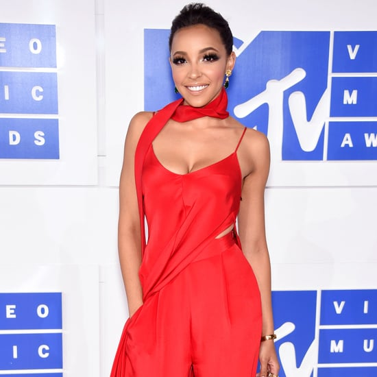 Tinashe Red Jumpsuit at the VMAs 2016