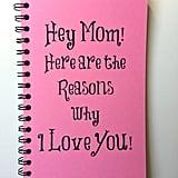 Mom Appreciation Notebook