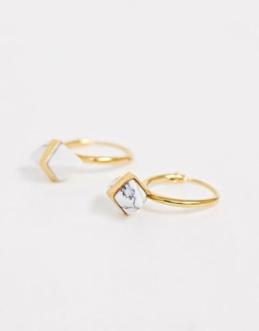 ASOS Design Recycled Sterling Silver Hoop Earrings
