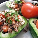 Beef and Bean Stuffed Peppers
