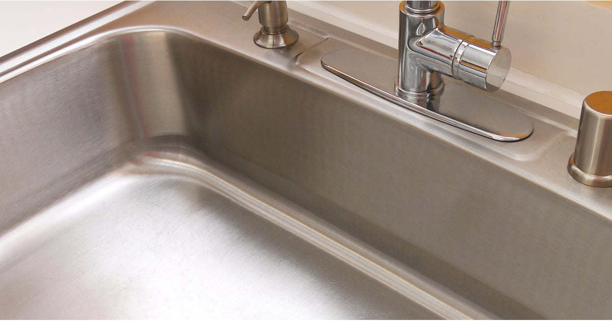 how to clean a white kitchen sink how to clean your stainless steel sink popsugar smart living 9324