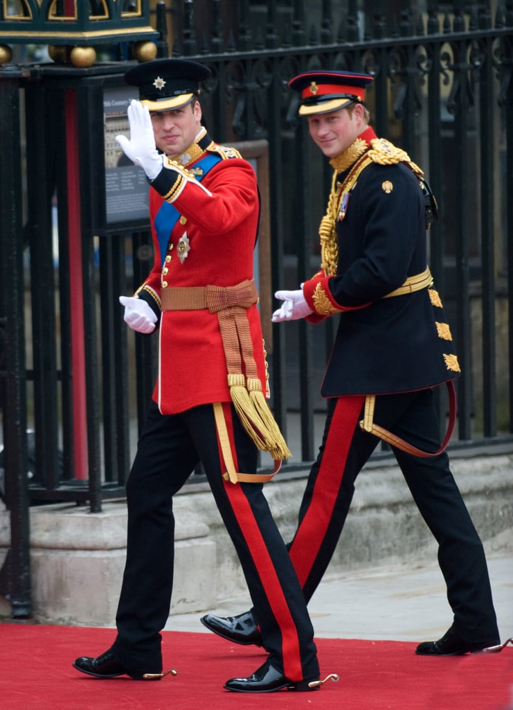 At His Own Wedding, William Wore the Red Uniform of the Irish Guards