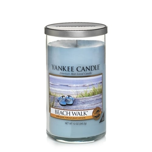 The Beach Walk pillar candle ($20) is defined by sea musk and citrus notes.