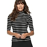 POPSUGAR Elbow Sleeve Mockneck Top
