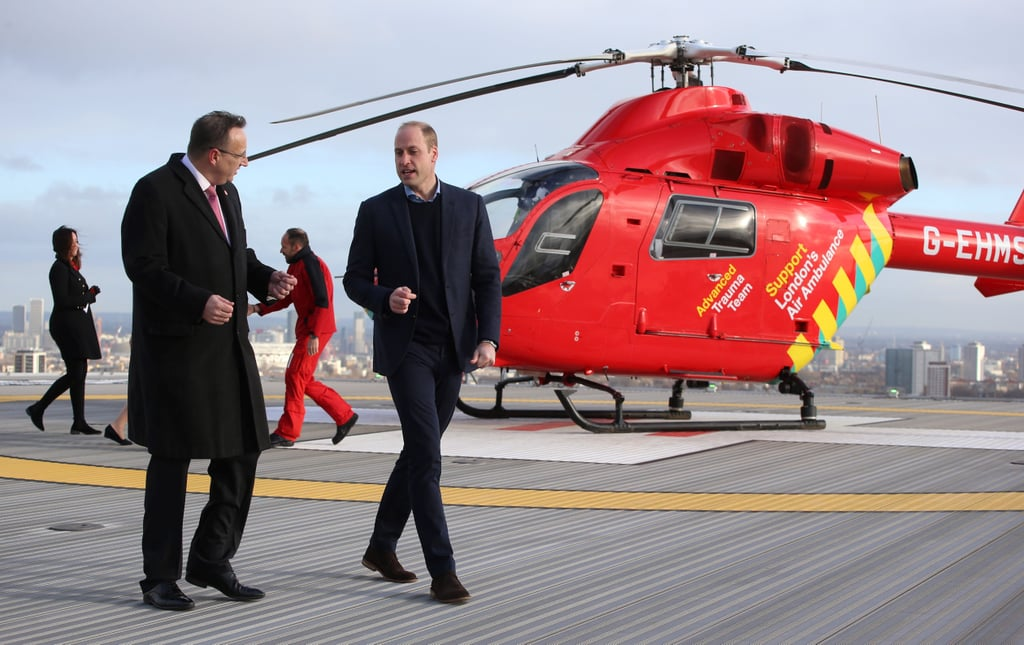 Prince William at the Royal London Hospital January 2019