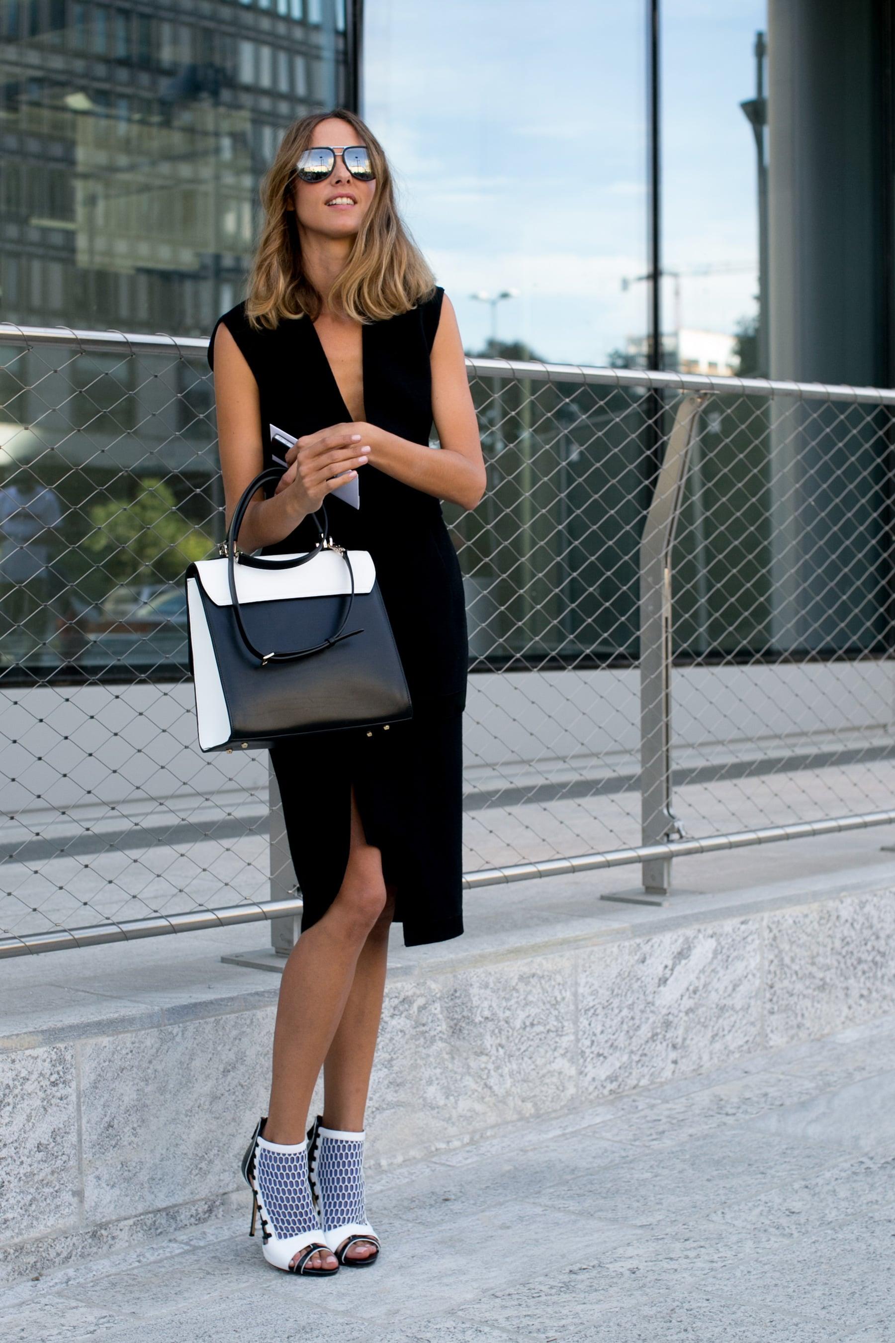 Simply styled — then some fierce footwear.