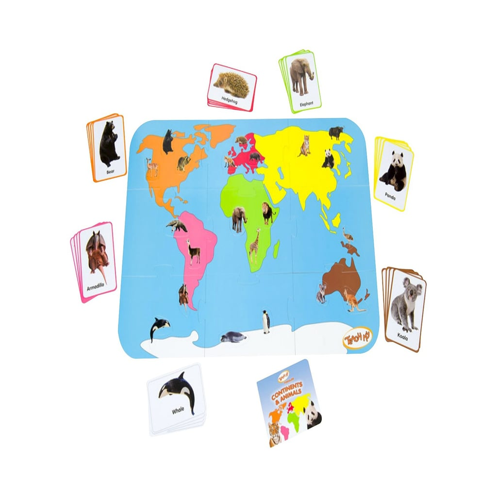 Teach My Toddler Continents & Animals