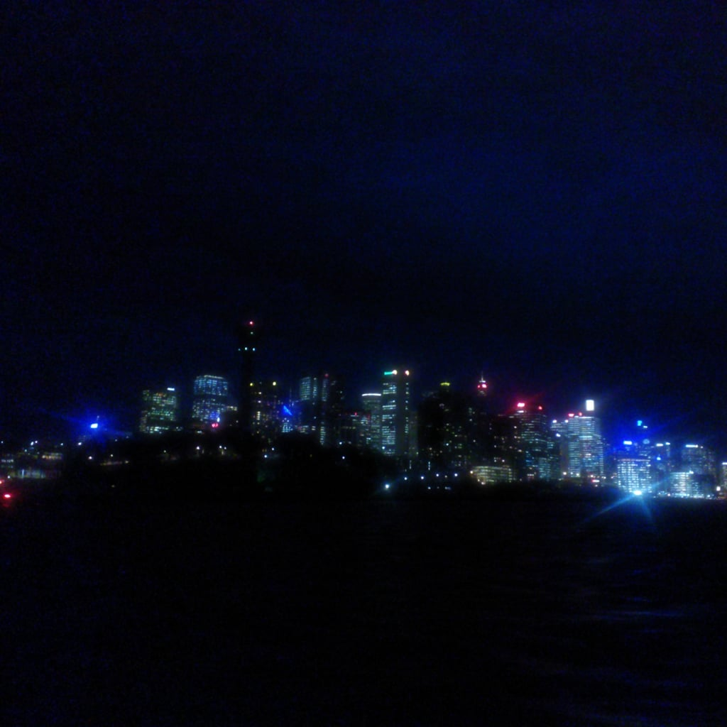 We got the ferry from Cockatoo Island back to Circular Quay (the all stops trip) and saw the CBD's pretty lights by night.