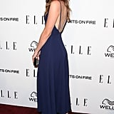 Christa B. Allen wore a backless dress on Thursday.