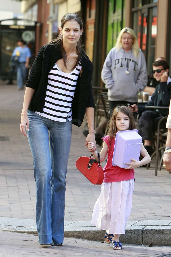 Katie Holmes and Suri Cruise crossed the street.