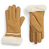 UGG Seamed Touchscreen Compatible Genuine Shearling Lined Gloves