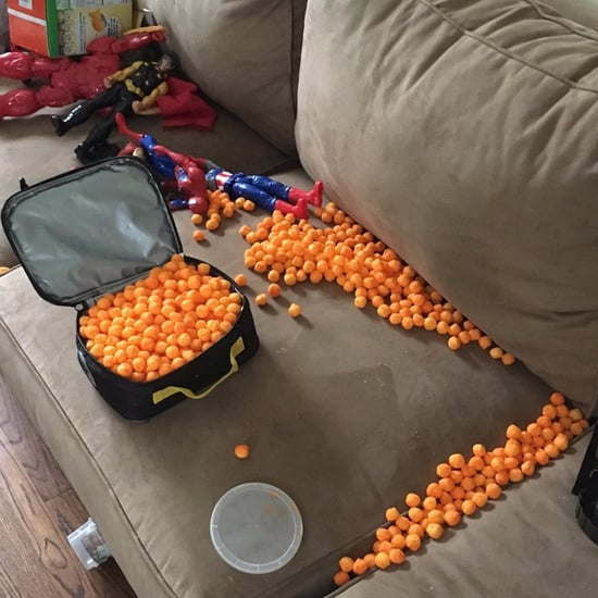 3-Year-Old Packs His Own Lunch With Cheese Balls