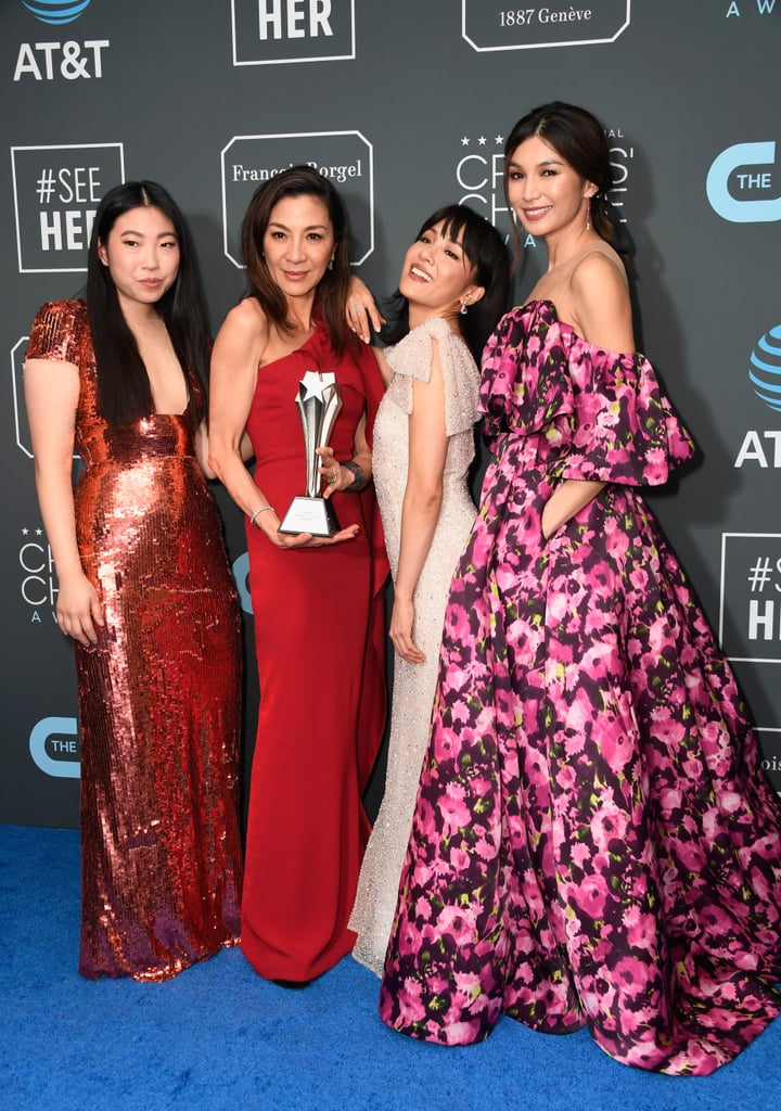 Pictured: Awkwafina, Michelle Yeoh, Constance Wu, and Gemma Chan