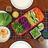Entertaining? Set up a DIY wrap station for guests. They'll be having so much fun creating their recipes that they probably won't even realize how healthy they're being.