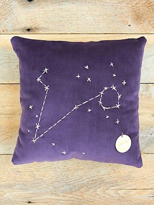 Pisces Star Sign Pillow ($98)