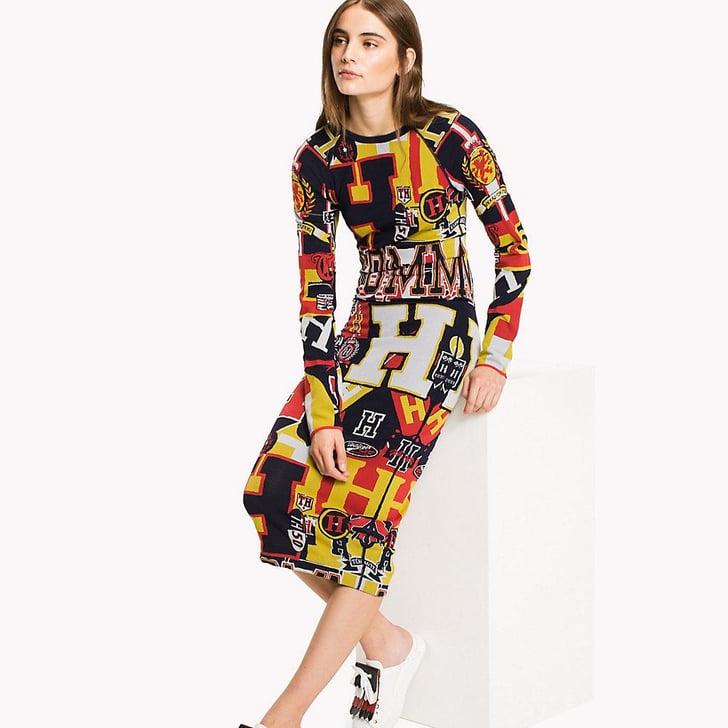 Tommy Hilfiger Multi Logo Dress | Kylie Jenner Fendi Dress ...