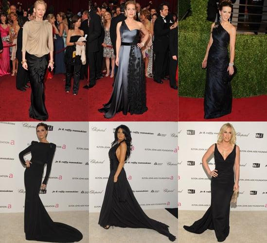 Kate Winslet, Tilda Swinton, Kate Beckinsale, Victoria Beckham at the 2009 Oscars