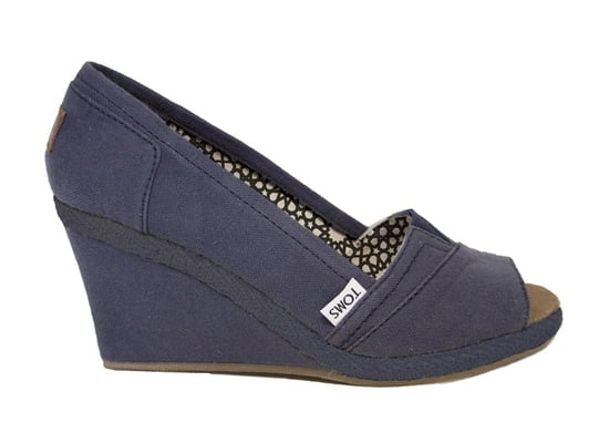 Toms Peep-Toe Wedge Sandals