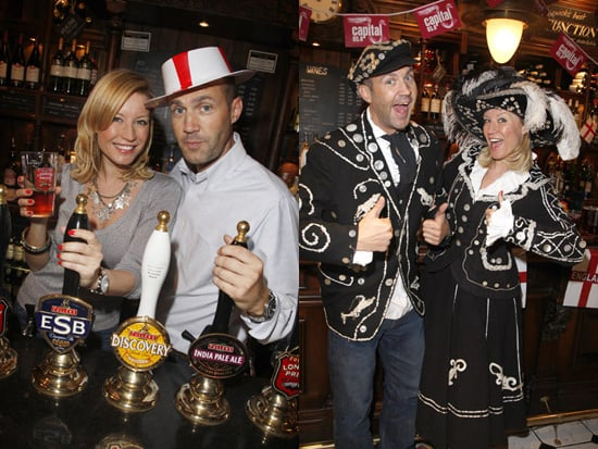 Johnny Vaughan and Denise Van Outen Celebrate St George's Day