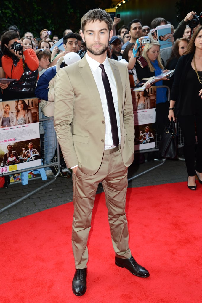 Chace Crawford looked as dapper as ever on the red carpet at the What to Expect When You're Expecting UK premiere.