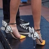 Nina Dobrev's butterfly stilettos set our hearts aflutter. Source: Instagram user ilariaurbinati