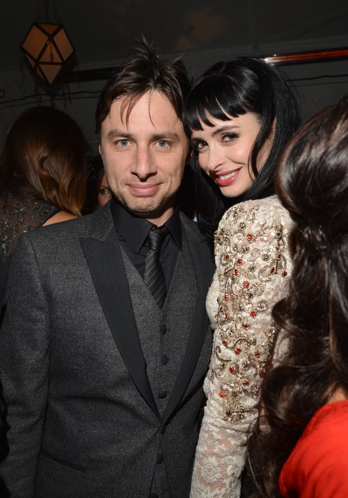 Krysten Ritter hugged Zach Braff at GQ's afterparty.